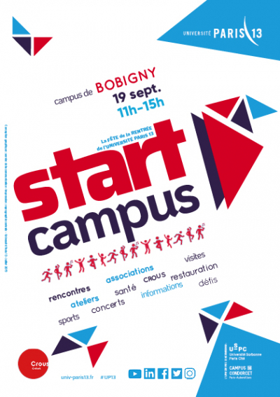 Start campus : la fête de la rentrée de l'université Paris 13, le 19 septembre 2019