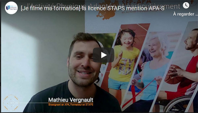 Je filme ma formation : la licence STAPS mention APA-S